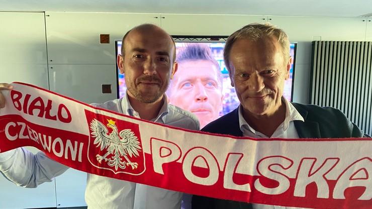 Donald Tusk spotkał się z Borysem Budką. Wspólnie oglądali mecz