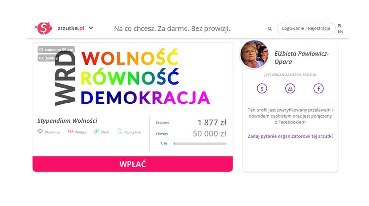"""Kolejna zbiórka Elżbiety Pawłowicz na """"Stypendium Wolności"""". Tym razem potrzebne 50 tys. zł"""