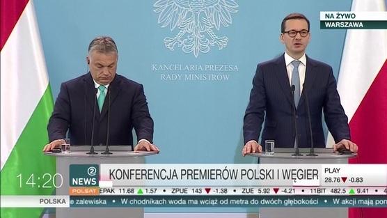 Konferencja premierów Polski i Węgier